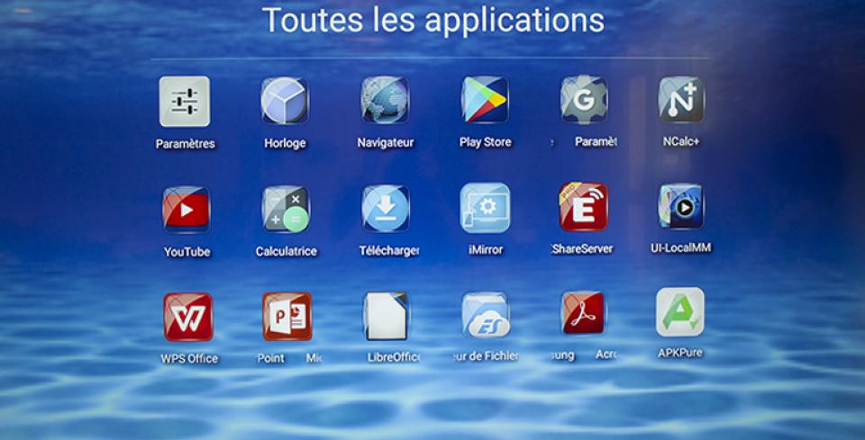 menu d'application traulux