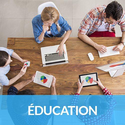 bouton éducation